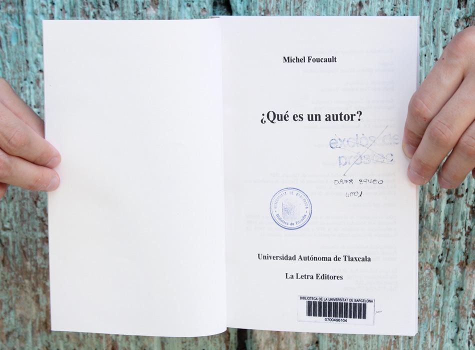 asformigas: ¿Qué es un autor?, Foucault