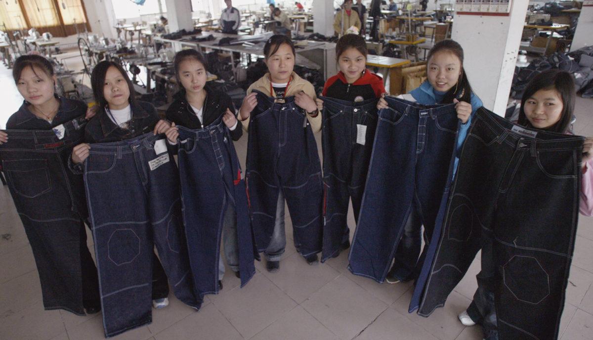 Treballadores xineses de la confecció