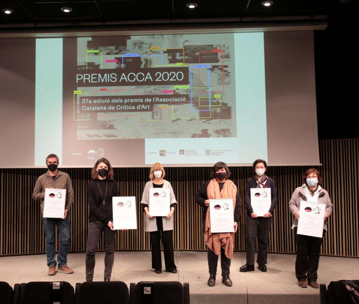 Ganadores de los premios ACCA 2020 durante la ceremonia de entrega