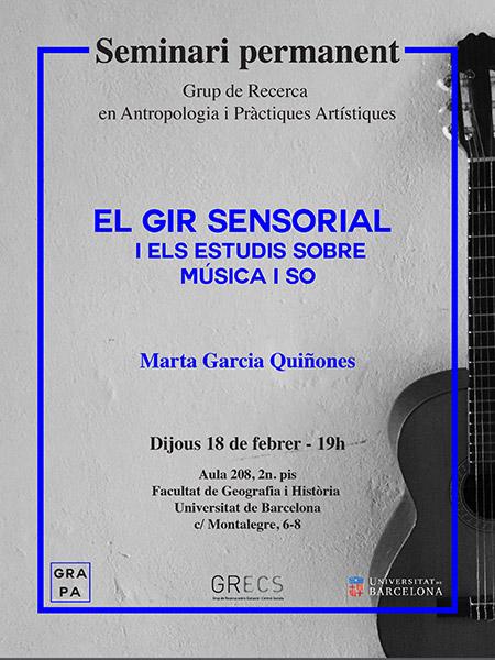 Cartell seminari GRAPA Marta García Quiñones