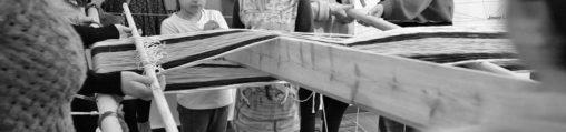 Taller telar gigante Fundació Miró